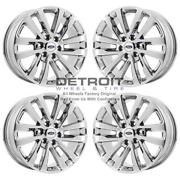 20 Ford Expedition Pvd Bright Chrome-h 4 Wheels Rims Factory Oem 10144 200...