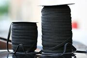Elastic Band 1/4 Inches Width 6mm 5000 Yards - Color Black - Usps First Class