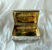 1825 Georgian Antique Sterling Silver And Rose Gold Table Snuff Box
