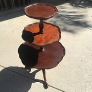 Mahogany 3-tier Table / Dumbwaiter Table By Mersman