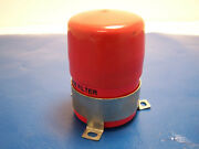 Msd Ignition Noise Filter Noise Capcitor Emi Red W/ Bracket And Cap 8830 Used