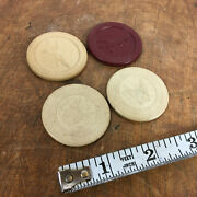 Vintage Antique Clay Poker Omaha Hold Em Casino Poker Chips Horse And Dog