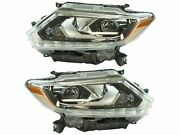 Headlight Assembly Set For 14-16 Nissan Rogue Sw65d1