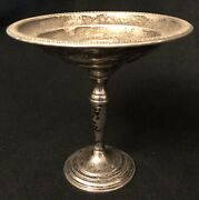 Antique W M Rogers Sterling Silver 34a Compote 180g