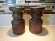 2-hallmark Wood Candle Stand Base-farmhouse Look Great W/flame Less Candles