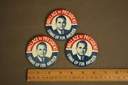 Lot Of 3 George Wallace Stand Up For America President Campaign Button Pinbacks