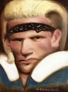 Brian Bosworth Painting Nostalgic Football Art Collectible Artwork 80s Mullet