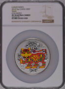 Ngc Pf70 2010 China Lunar Series Tiger 5oz Silver Colorized Coin