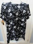 New Alice And You Black Floral Tunic Blouse Top 16 Boho Plus Size Stunning