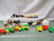 Fisher Price Little People 915 Barn Farm Pick One Part Animal Equipment Cow Pig