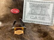 Case 62131 Factory Collection Canoe 2nd Stag Handles Extremely Rare Coa Mint