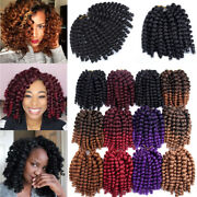 8-10and039and039 Jumpy Wand Curl Jamaican Bounce Curly Synthetic Hair Twist Crochet Braids