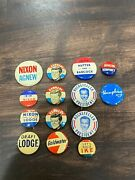 Vintage Kennedy Nixon Rockefeller Election Campaign Button Pins Lot Of 14 A9
