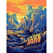 Pearl Jam Poster Dan Mumford 2020 Nyc Msg New York Artist Signed Sold Out Xx/100