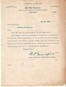 1911 Letter Post Office Dept Dc To Postmaster Mckenna Wa/new Bond Accepted