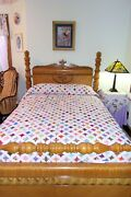 Queen Size Cathedral Window Quilt