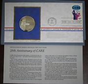 Postmasters Of America Sterling Silver Art Round - Anniversary Of Care