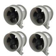 4pcs 12v 4a High Air Flow Marine Bilge Blowers Waterproof 4and039and039 Dia. White