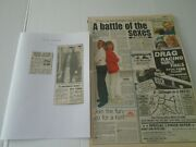 Liza Goddard - Cutting/clippings From Newspapers - 1981 - 1991