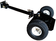 Two Wheel Sulky Tow Behind Lawn Mower Garden Accessory Ride Stand On Attachment