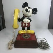 Vintage 1976 The Mickey Mouse Phone Rotary Dial Telephone Walt Disney