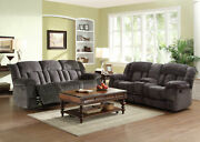 Modern Living Room Furniture Microfiber Reclining Sofa Couch And Loveseat Set If5p