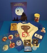 Et The Extra Terrestrial Vtg Lot Small L/s Shirt,phone Book,coin Holder, Costume