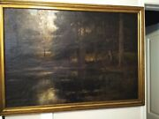 Original Oil By Well Known German Artist Horst Hacker Canvas Signed And Dated 1906