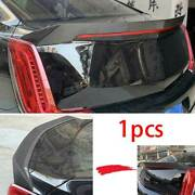 For Cadillac Xts 2018-2020 Real Carbon Fiber V-type Rear Trunk Spoiler Wing Flap