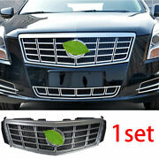 For 13-15 Cadillac Xts Abs Silver Front Center Mesh Grille Grill Cover Trim 1pcs