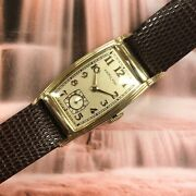 Vintage 1939 Gentand039s Hamilton Foster 14k 19 Jewels American Serviced And Warranty