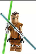 Lego Star Wars Pong Krell Minifigure And Lightsabers 75004 Rare Unique Head Piece