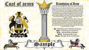 Claiver-mcclever Coat Of Arms Heraldry Blazonry Print