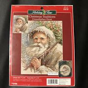 Grandfather Frost Christmas Counted Santa Cross Stitch Kit With Ornament Kit