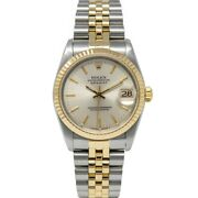 Rolex Womenand039s Datejust 31 Gold And Steel 68273 Wristwatch - Silver Dial Jubilee