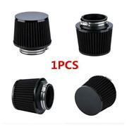 Motorcycle Air Filter 2.5and039and039 65mm Inlet Clamp Black Cone For Atv Dirt Pit Bike 1x