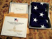 Us Flag Flown Over Us Capitol July 4 1987 Orig Box Authenticated Reagan Sweeney
