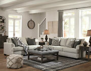 New Gray Chenille Fabric Living Room Furniture 2 Piece Sofa And Loveseat Set Ig24
