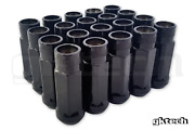 Gktech M12x1.25 Steel Tuner Lug Nuts - Pack Of 20 - Black