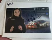 Signed Erica Enders 2006 Pro Stock Dodge Stratus Nhra Photo Card 6 X 10 N 1052