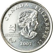 [763929] Coin Canada Elizabeth Ii Paralympic Winter Games 25 Cents 2007