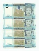 4 Consecutive Jersey D Series Dz Andpound5 Replacement Unc Banknotes 2010 Ian Black