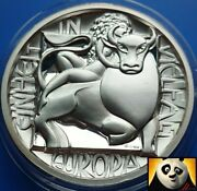 Austria Europa And Zeus Bull Sigmund Freud High Relief Silver Proof Coin Medal
