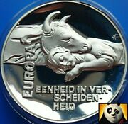 Netherlands Europa And Zeus Bull Rijks Museum High Relief Silver Proof Coin Medal