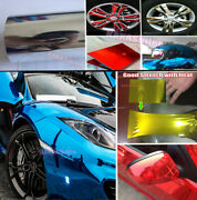 Entire Car Wrap - Fast Stretchable Mirror Glossy Chrome Vinyl Soft Sticker Abus
