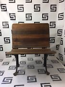 1890and039s Buffalo Ny Vintage Antique Schoolhouse Stadium Seat Theatre Chair Folding