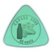 2008 Canada 50 Cent Milk Deliverytriangle Shape - With Green Enamel