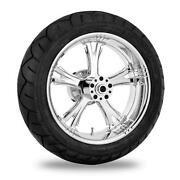 Xtreme Machine Fierce Rear Wheel Package With Tires And Rotors 9270-7716r-xfr-ch