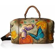 Anna By Anuschka Womenand039s Genuine Leather Medium Shoulder Hobo   Hand Painted Or