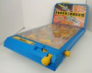 Vintage 1990 Astro Battles Playtime Blue Table Top Pinball Machine Rare Toy